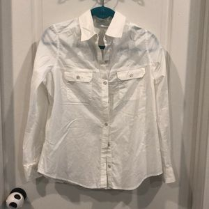 NY&C button up white shirt